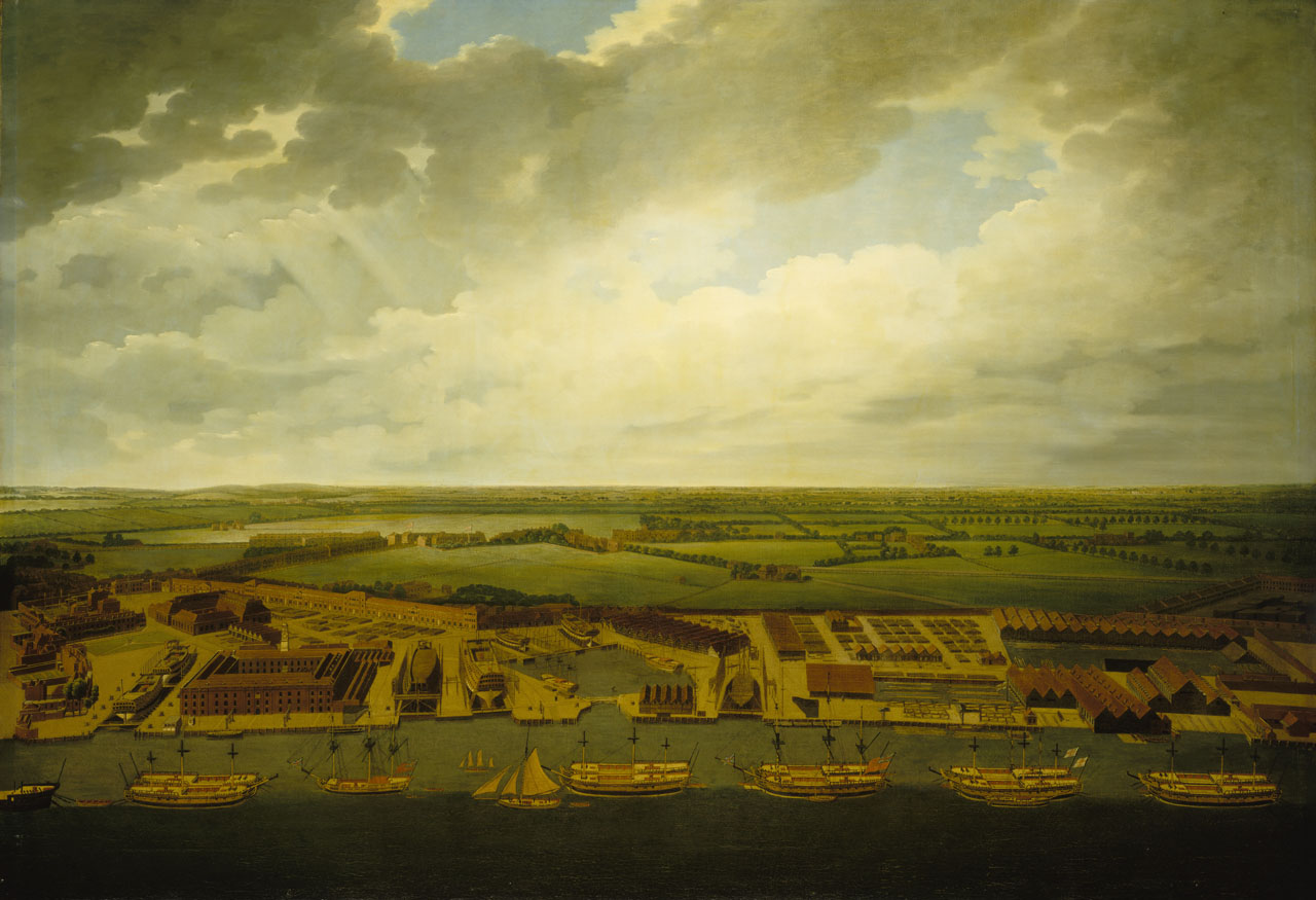 Deptford Dockyard Joseph Farington